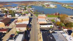 Scenic Small Town America, Aerial Tour Stock Footage