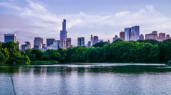 Stock Video Footage of Timelapse of beautiful scenery in Central Park, Manhattan, New York City