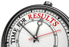 Stock Illustration of time for results concept clock