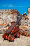 Castillo San Felipe Barajas, impressive fortress located in Lazaro hill - stock photo