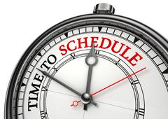 time to schedule concept clock - stock illustration