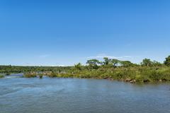 Parana River at Iguazu Falls - stock photo