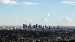 Downtown Los Angeles With Clouds Day Timelapse Stock Footage