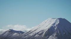Mt Ngauruhoe slow zoom Stock Footage