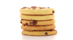 Stack of cookies Stock Footage