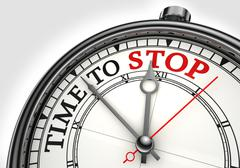 time to stop concept clock - stock illustration