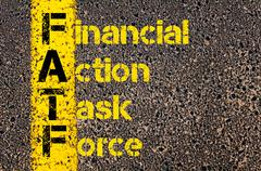 Business Acronym FATF as Financial Action Task Force - stock illustration