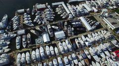 Boat staging area fort lauderdale boat show Stock Footage