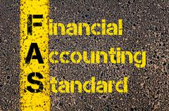 Stock Illustration of Business Acronym FAS as Financial Accounting Standards