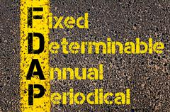 Stock Illustration of Business Acronym FDAP as Fixed, Determinable, Annual, Periodical