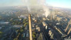 Aerial view of Huge Factory. Stock Footage