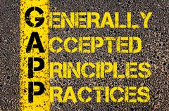 Business Acronym GAPP as Generally Accepted Principles and Practices Stock Illustration