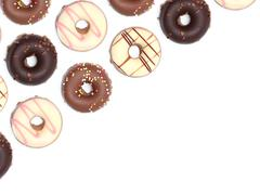 Chocolate donuts isoalted on a white background - stock photo