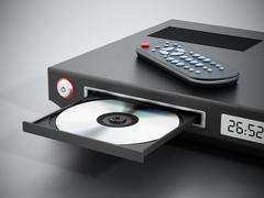 Stock Illustration of Blu-ray player with open disc tray