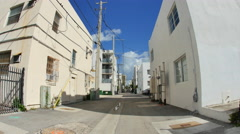 Miami Beach alley way Stock Footage