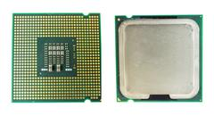 Computer CPU Chip back and front Kuvituskuvat