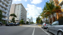 Ocean Drive and 3rd Street Stock Footage