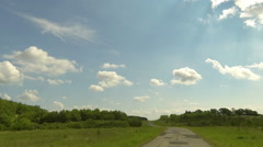 Stock Video Footage of Clouds over the road. The path from Terenga village, Ulyanovsk region, Russia