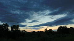Sunset on the river Myosha. Kulaevo village, Republic of Tatarstan, Russia,  Stock Footage