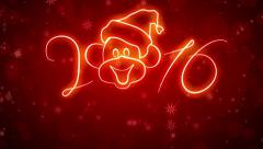 2 animated movie character with the advent of the monkey in 2016. - stock footage