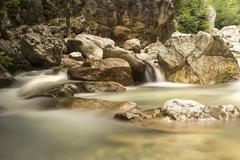 River waterflow - stock photo