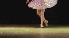 Ballerina dancing on the stage (release) Stock Footage