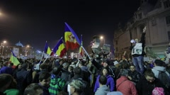 Protest against corruption in Romania. - stock footage