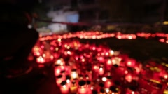 Protest against corruption in Romania. Candles at Colectiv club. - stock footage