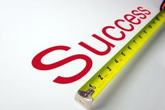 Measure success Stock Photos