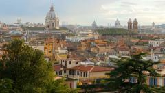 Rome skyline, Italy. Panning shot. UHD, 4K Stock Footage