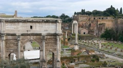 Stock Video Footage of Rome ancient forum. Italy