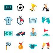 Stock Illustration of Soccer Icons Set