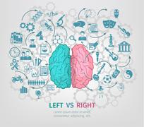 Human Brain Concept - stock illustration