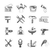 Home Repair Icons Set - stock illustration