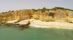 Aerial Footage Praia da Marinha, Porches, Algarve, Portugal Stock Footage