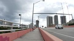 Video of Hallandale Beach Blvd Bridge Stock Footage