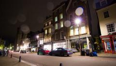 British Nightlife Timelapse Still - Cambridge, UK Stock Footage