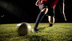 Soccer Player Kicking The Ball - stock footage