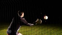 Stock Video Footage of Shotting Penalty Kick To Goalkeeper