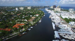 Yachts and mansions Fort Lauderdale FL Stock Footage