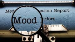 Stock Video Footage of Magnifying glass on mood disorder
