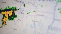 Weather in the Internet. Screen display. Stock Footage