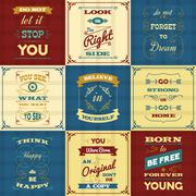 Slogan Typography Posters Stock Illustration