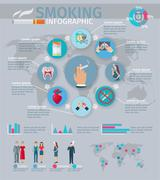 Smoking Infographics Set Stock Illustration