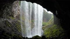 Behind Tamanawas Falls Stock Footage