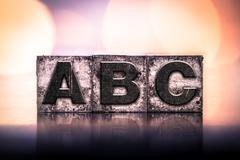 ABC Concept Vintage Letterpress Type Stock Photos