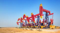 Oilfield with pump units Kuvituskuvat