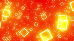 Flying Squares Orange Abstract Psychedelic VJ Background Animation Loop Stock Footage