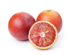 Ripe red oranges isolated Stock Photos