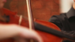 Violin and bow - stock footage